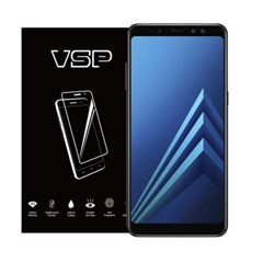 VSP 갤럭시A8 2018 2.5D 강화유리 액정필름 1매 블랙