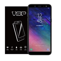 VSP 갤럭시A6플러스 2.5D 강화유리 액정필름 1매 블랙