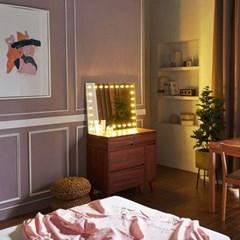 [Ldlab] 시크릿 LED 직사각 화장대 거치 거울_(1716289)