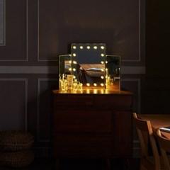 [Ldlab] 시크릿 LED 3단 화장대 거울_(1716286)