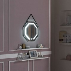 [Ldlab] 시크릿 LED 터치 팔각 스트랩 벽걸이 거울_(1716282)