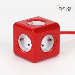 파워큐브 올컬러 5구 1.5M 레드 멀티탭 콘센트_(2546800)