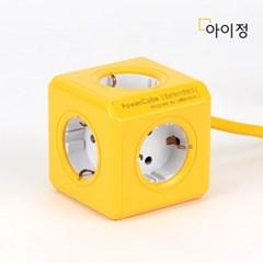파워큐브 올컬러 5구 1.5M 옐로우 멀티탭 콘센트_(2546799)