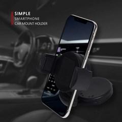 360도 각도조절 차량용 흡착식 스마트폰 거치대SIMPLE_(1088029)