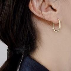 (92.5 silver) semi touch earring