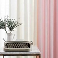 포니 투톤 핑크 아이보리 커튼_(2833265)