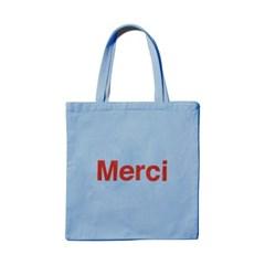 파리 편집샵 정품 메르시(Merci) Baby blue 에코백 / 캔버스백