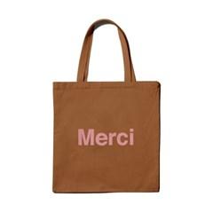 파리 편집샵 정품 메르시(Merci) Marron 에코백 / 캔버스백