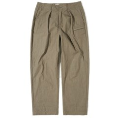 Wide Tapered Pants Khaki Brown