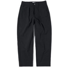 Wide Tapered Pants Black