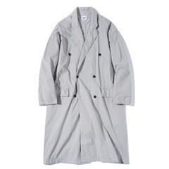 Oversized Washing Coat Ash Gray
