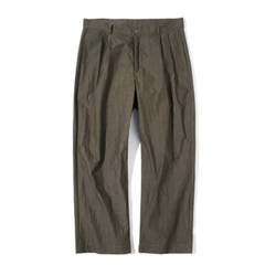 Fiber Two Tuck Pants Khaki