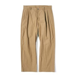Fiber Two Tuck Pants Camel