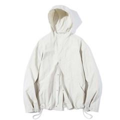 Fiber Hood Zip-Up jacket L.Beige
