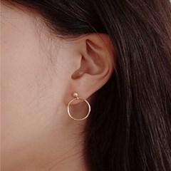 Ball Ring Post Earring - S