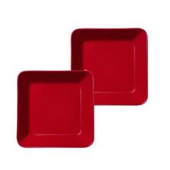 떼에마 접시 16X16cm 빨간색 2개_(2277874)