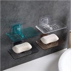 파스텔 투명 비누받침대 1개(색상랜덤)