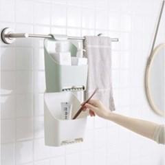 간편 욕실걸이 수납정리함 1개(색상랜덤)