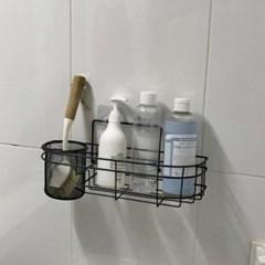네트형 흡착식 욕실선반 대형 1개