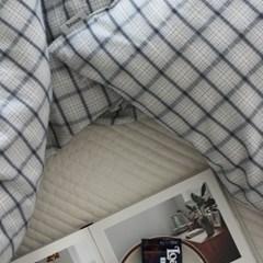 [브룬] 잉글리쉬 코튼 체크 침구(Q)