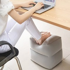 발받침대 풋스툴 책상 기내용 차량용 휴대용 에어스툴