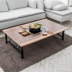 모리 인덕션 투톤 우드슬랩 접이식 테이블(인덕션포함)
