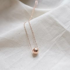 8mm Rosegold Ball Necklace