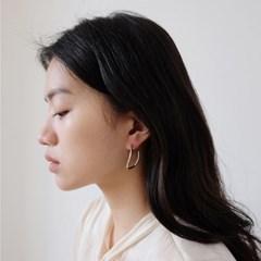 Wave Silver Earring
