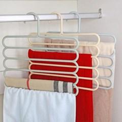 파스텔 5단 옷걸이 1개(색상랜덤)