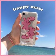 [뮤즈무드] happy mate (clear) 아이폰케이스