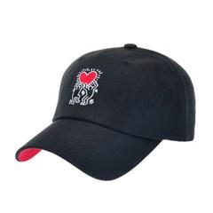 [키스해링]HCC01.키스해링 하트자수 볼캡 야구 모자