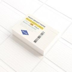 룰드 인덱스카드 화이트 100매 - 4x6