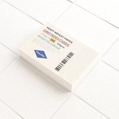 그리드 인덱스카드 화이트 100매 - 4x6