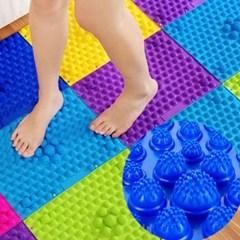 조립식 DIY 지압매트 1개(색상랜덤)