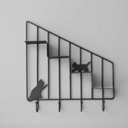 고양이 미니 선반(블랙) 선반 수납공간  추카추카넷_(1222336)