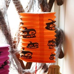 할로윈 원통등 23cm - 호박 오렌지