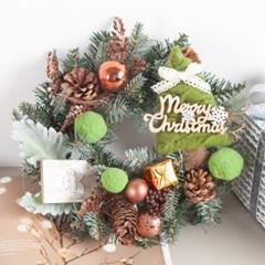 트리볼그레이 리스 300Ø(mm)P 크리스마스 TRWGHM_(1479557)