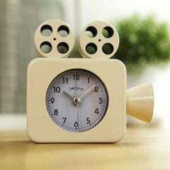영사기 알람 탁상시계 (아이보리) 시계 추카추카넷_(1222287)