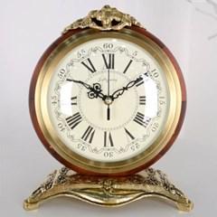 크라운 골드 앤틱 탁상시계 탁상 시계 디자인 추카_(1222271)