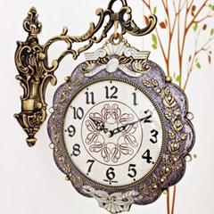 앤틱 그라핀 양면시계( RQ1123-01 ) 보라