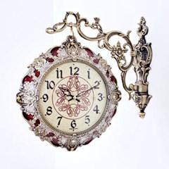 앤틱 팔라딘 양면시계 다크레드