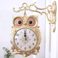 재물 부엉이 양면시계( R1012-01 ) 골드