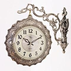 앤틱 템플 양면시계 ( RQ1124-01 ) 실버
