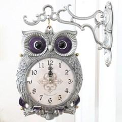 스칸다니비아부엉이 저소음 양면시계