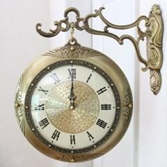 로얄 앤틱 저소음 양면시계 골드