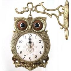 스칸다니비아부엉이 저소음 양면시계 골드