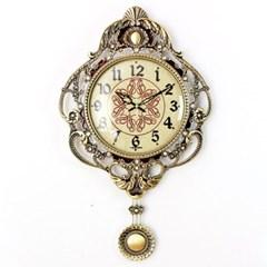 엔티크 듀크 추저소음 벽시계 레드 시계