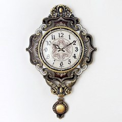 앤틱 로얄 추저소음 벽시계 브라운 시계