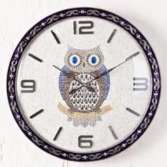 福부엉이 주석 저소음 벽시계 시계