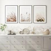 갈대 그림 가을 풍경 인테리어 액자 포스터 3in1 세트